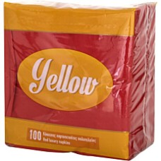 Red Napkins 33x33 100T