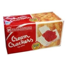 Papadopoulou Cream Crackers 140gr 6 Pack